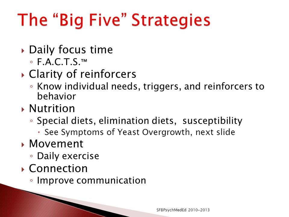 The Big Five Strategies