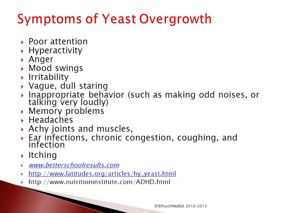 Symptoms of Yeast Overgrowth