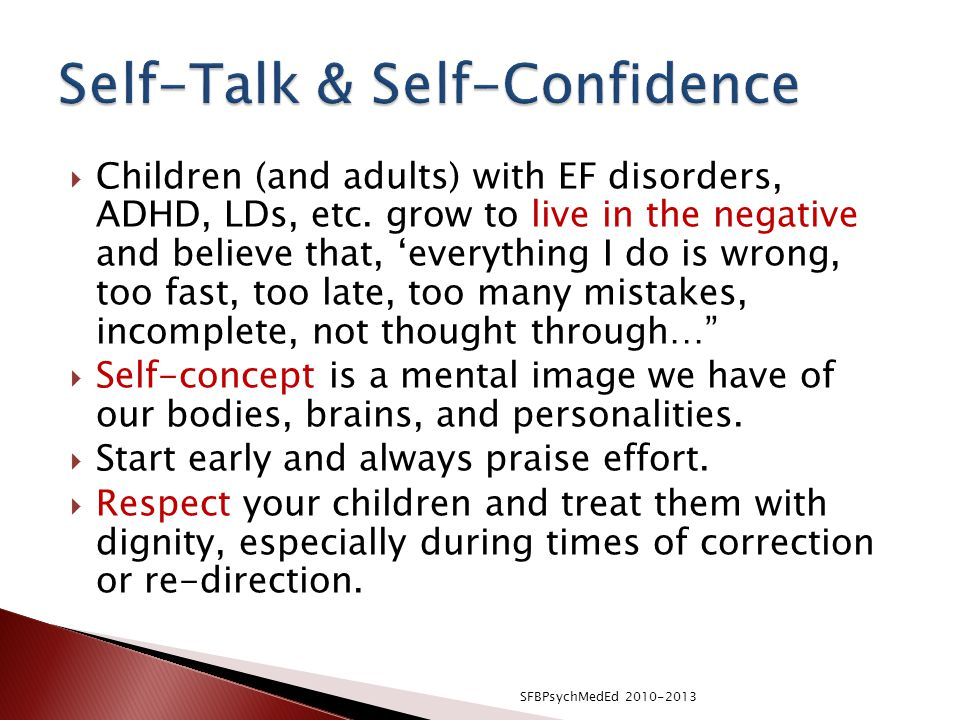 Self-Talk & Self-Confidence