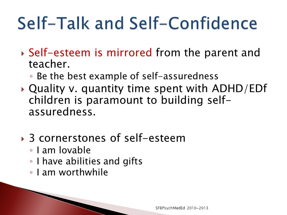 Self-Talk and Self-Confidence