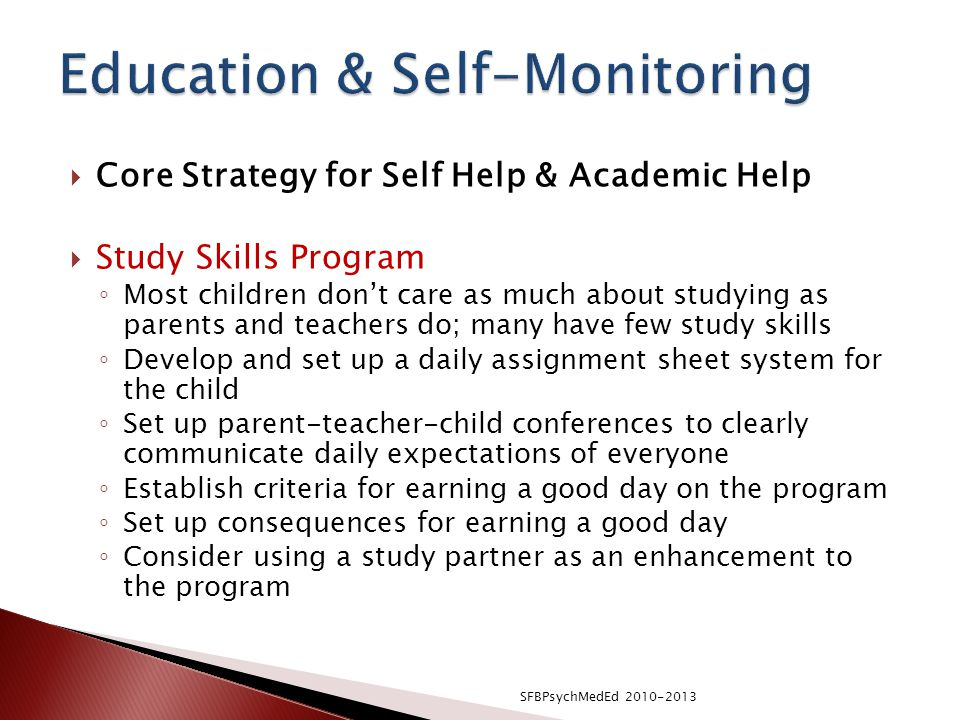 Education & Self-Monitoring