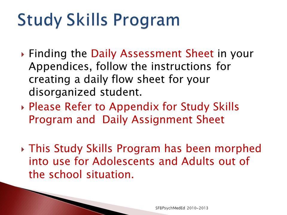 Study Skills Program