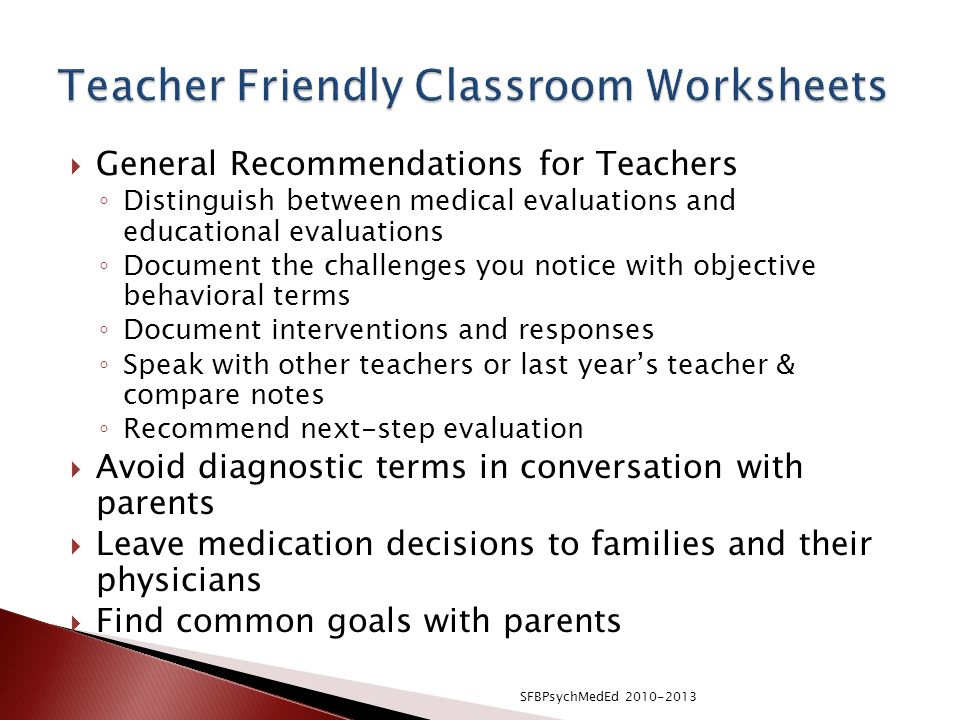 Teacher Friendly Classroom Worksheets