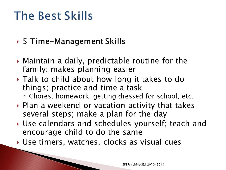 The Best Skills 5 Time-Management Skills