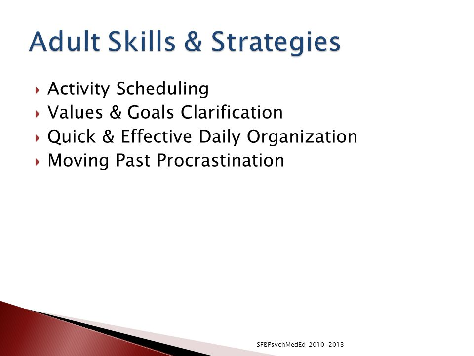 Adult Skills & Strategies