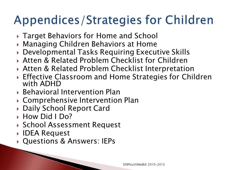 Appendices/Strategies for Children