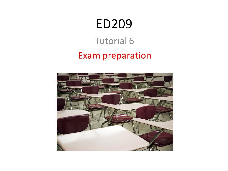 Tutorial 6 Exam preparation