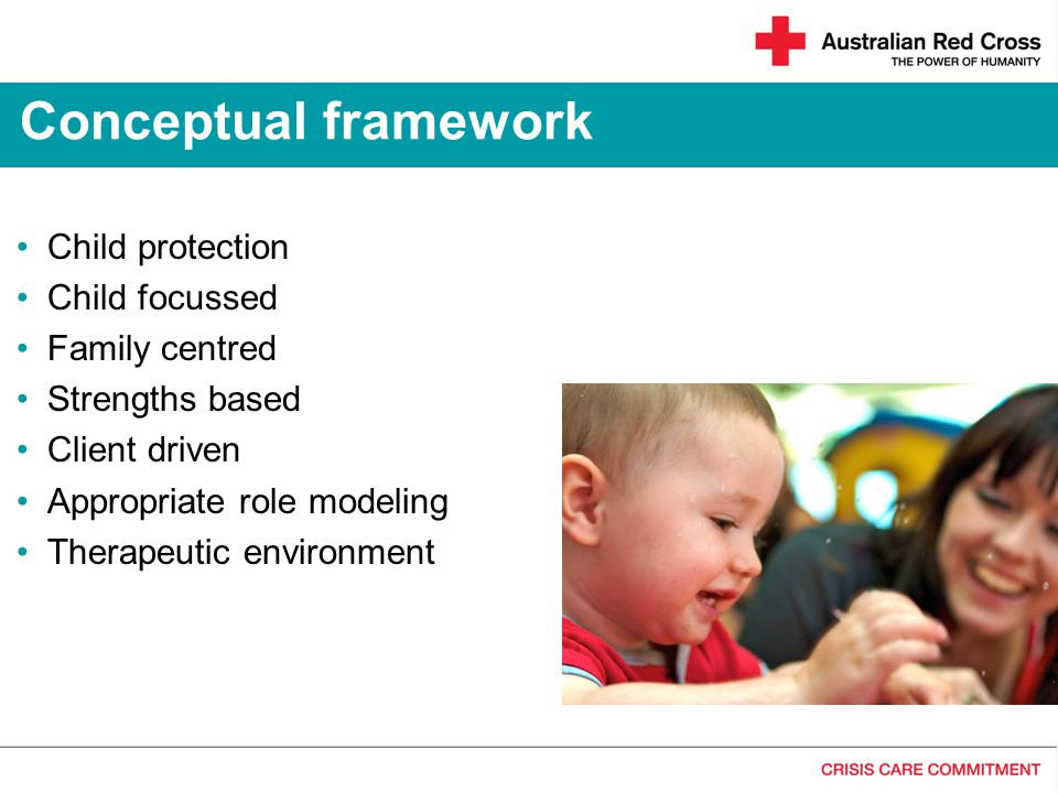 Conceptual framework Child protection Child focussed Family centred