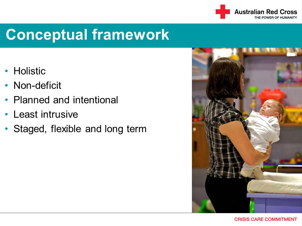 Conceptual framework Holistic Non-deficit Planned and intentional