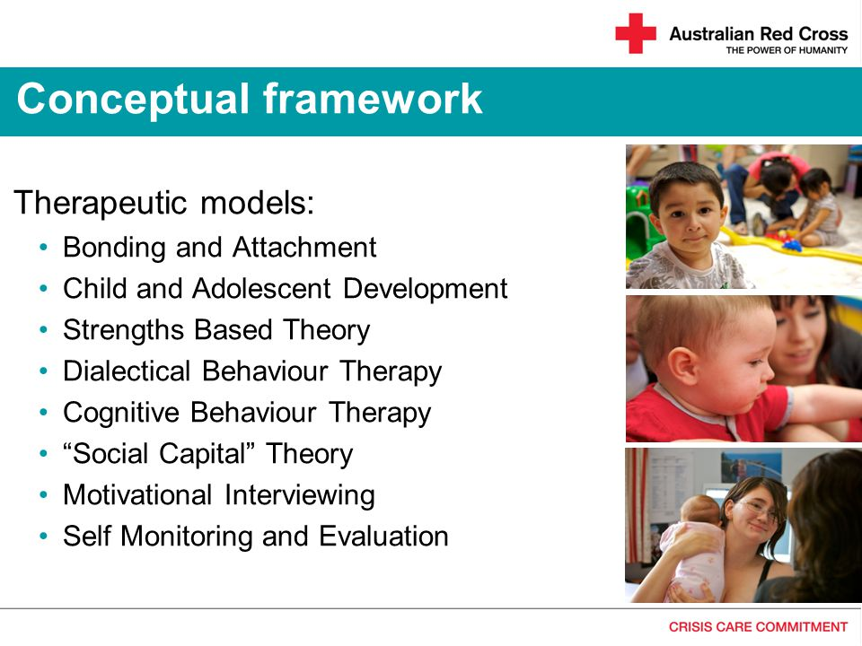 Conceptual framework Therapeutic models: Bonding and Attachment
