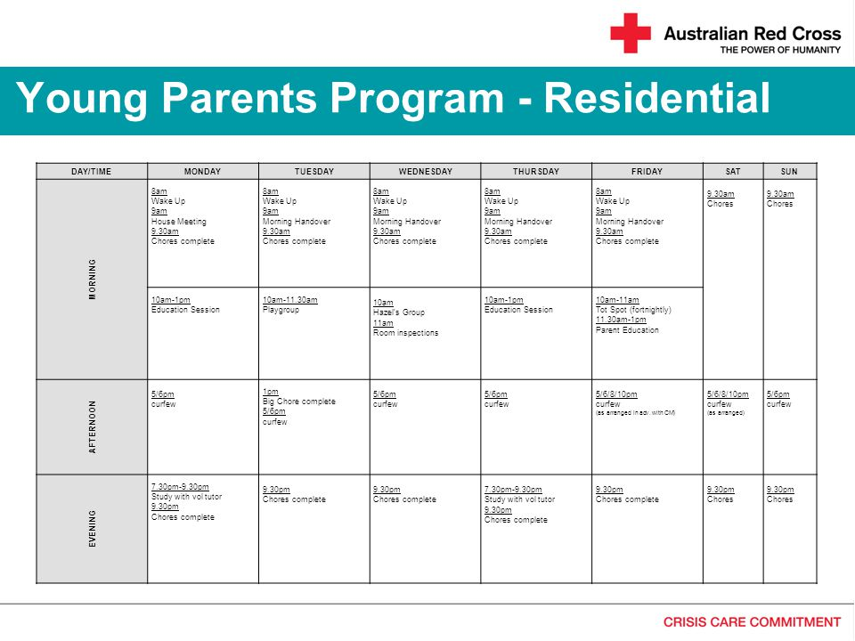 Young Parents Program - Residential