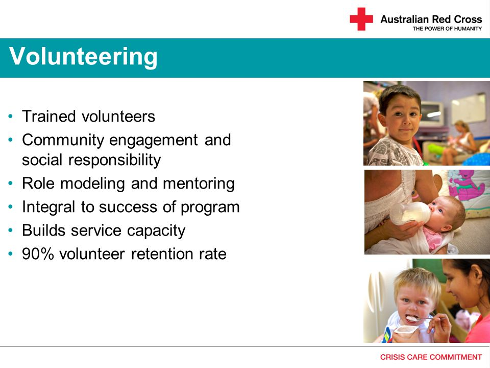 Volunteering Trained volunteers