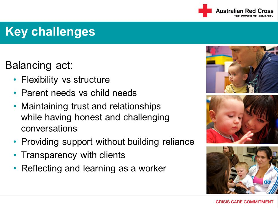 Key challenges Balancing act: Flexibility vs structure