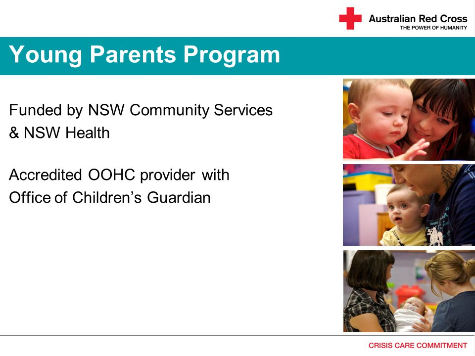 Young Parents Program Funded by NSW Community Services & NSW Health