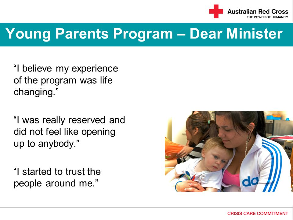 Young Parents Program – Dear Minister