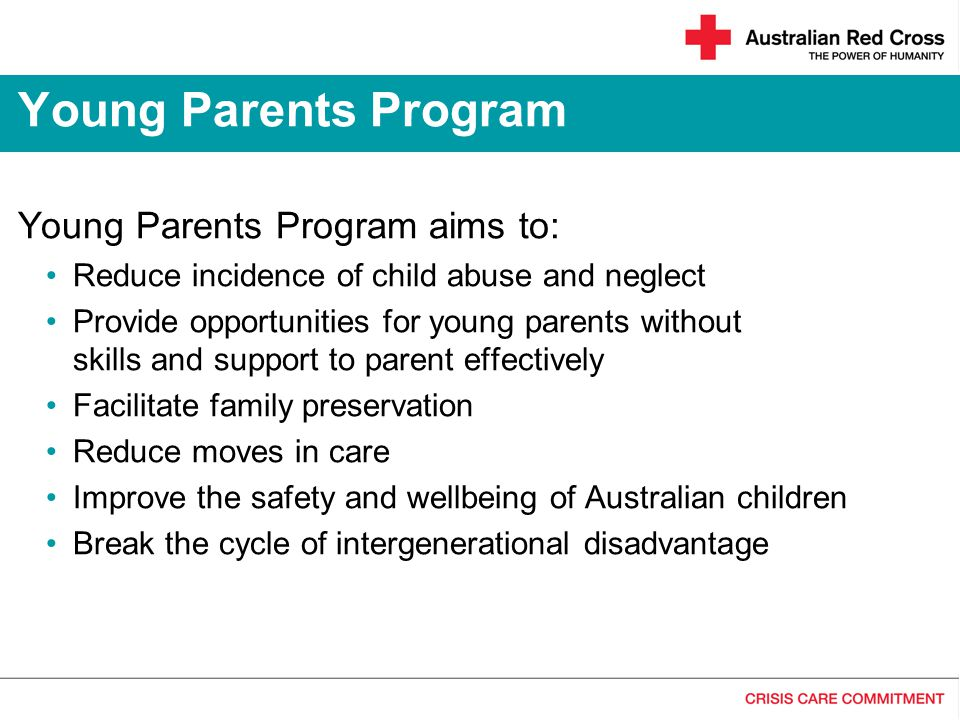 Young Parents Program Young Parents Program aims to:
