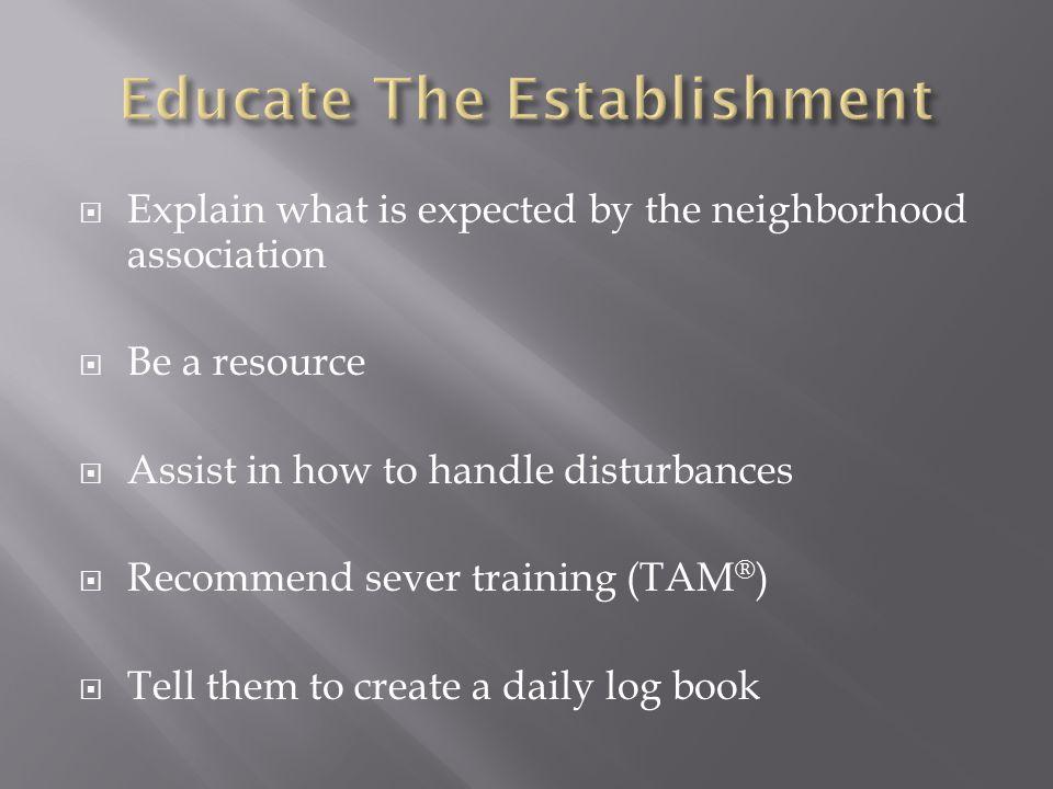 Educate The Establishment