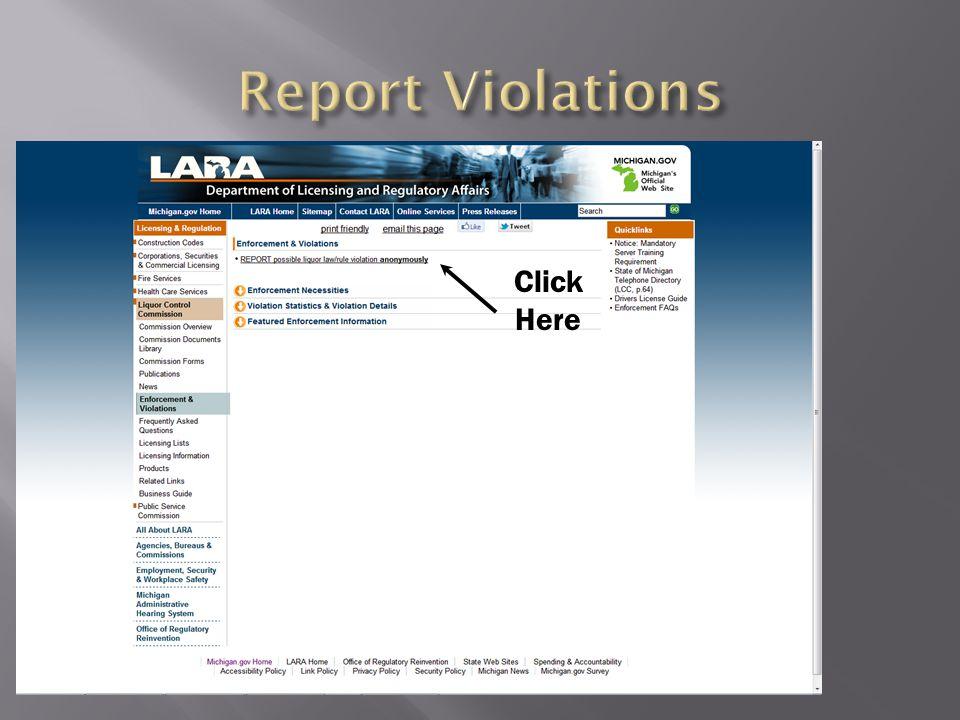 Report Violations Click Here