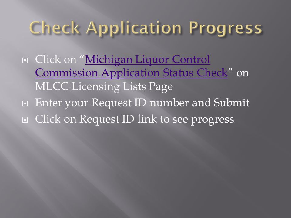Check Application Progress