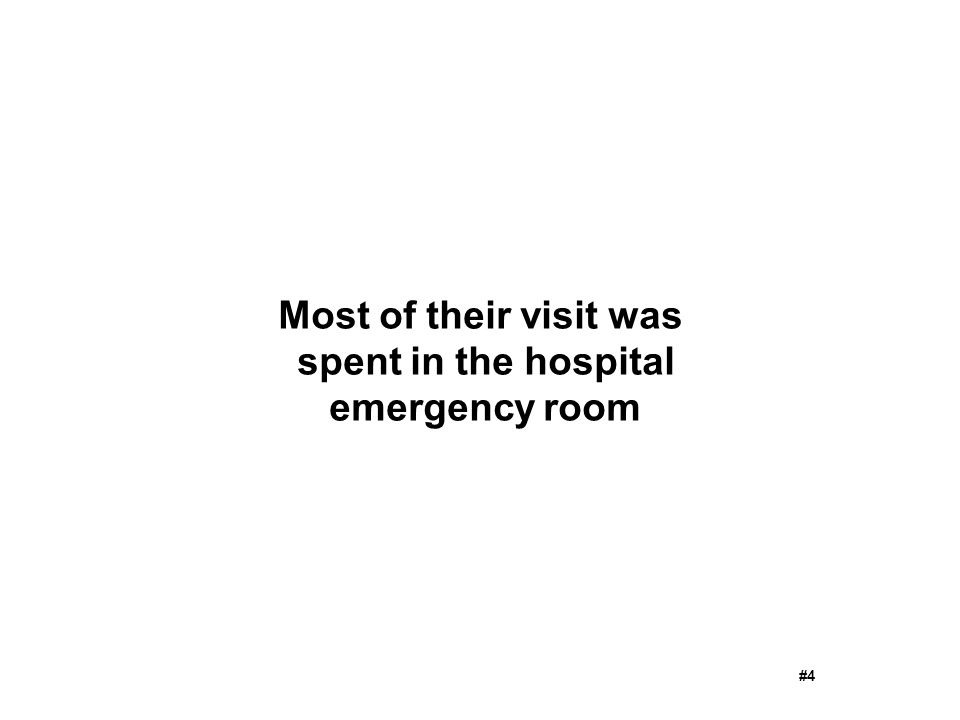 Most of their visit was spent in the hospital emergency room