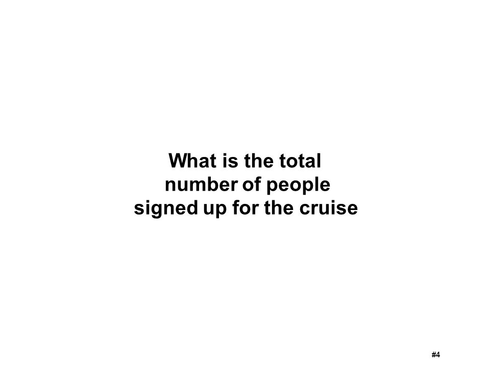 signed up for the cruise