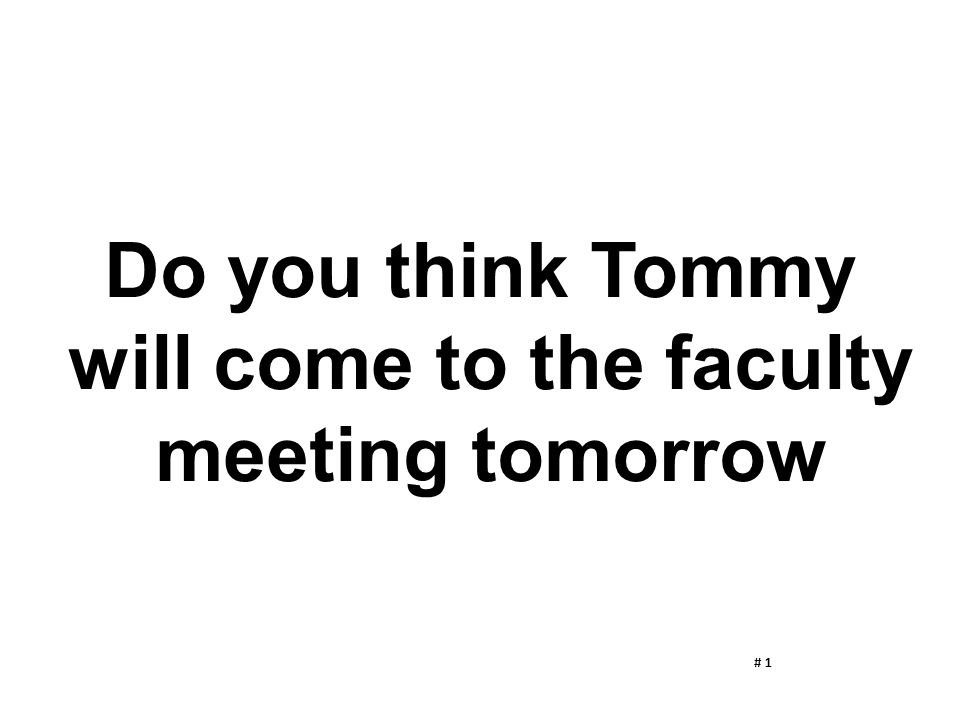 will come to the faculty