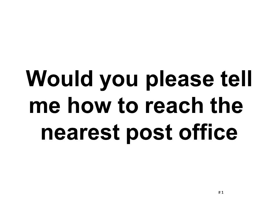 Would you please tell me how to reach the nearest post office