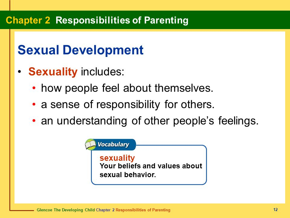 Sexual Development Sexuality includes:
