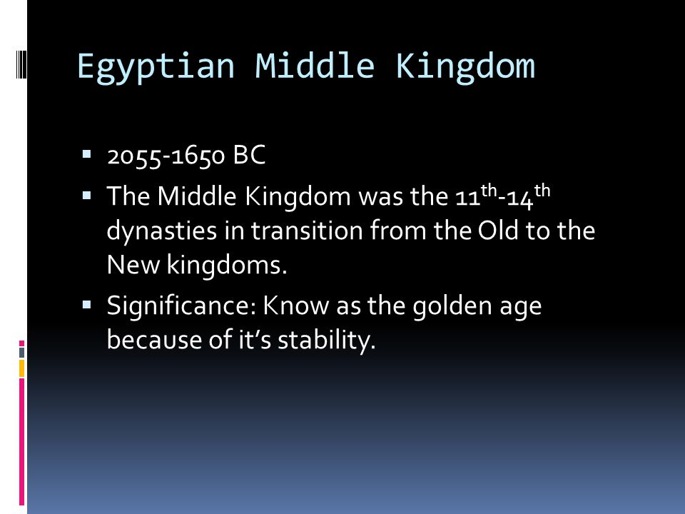 Egyptian Middle Kingdom