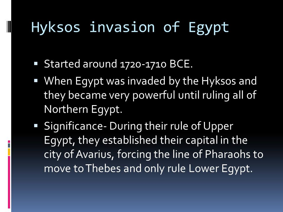 Hyksos invasion of Egypt