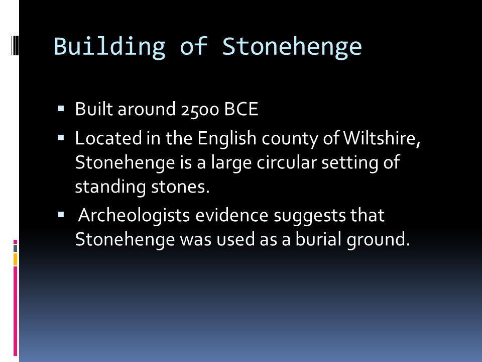 Building of Stonehenge