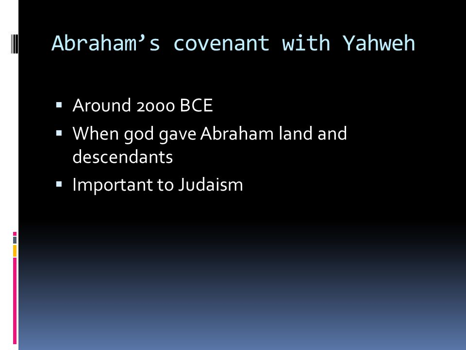 Abraham's covenant with Yahweh