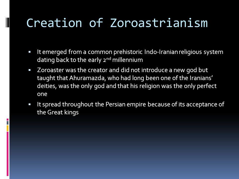 Creation of Zoroastrianism