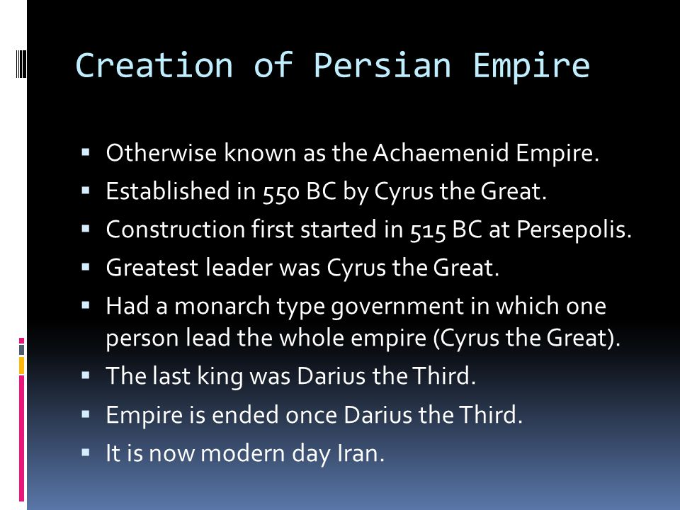 Creation of Persian Empire