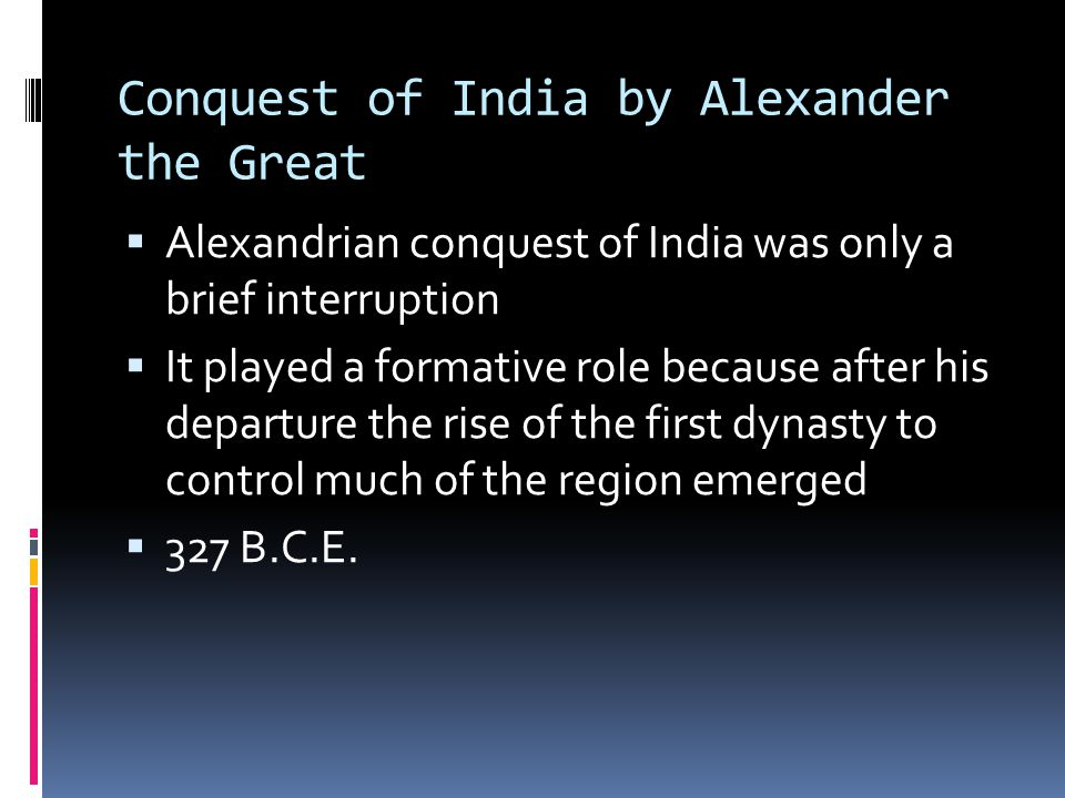 Conquest of India by Alexander the Great
