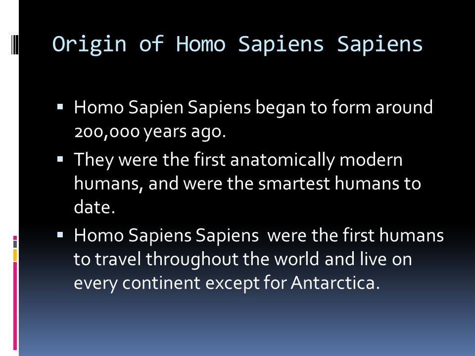 Origin of Homo Sapiens Sapiens