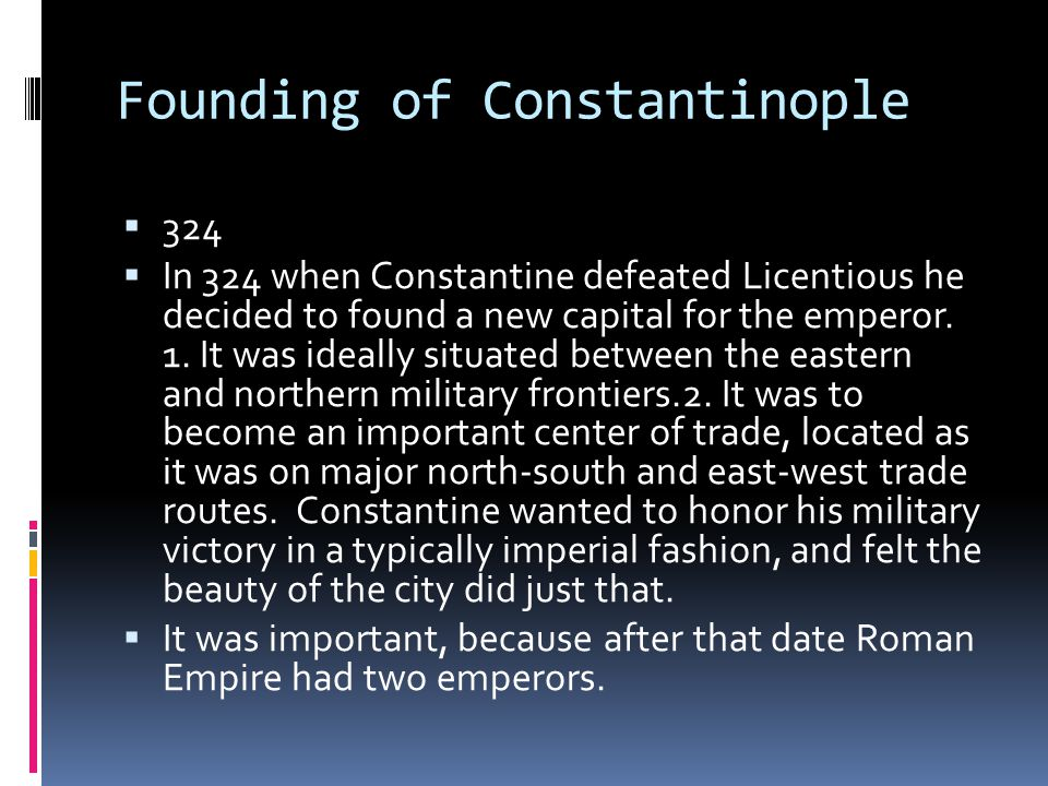 Founding of Constantinople