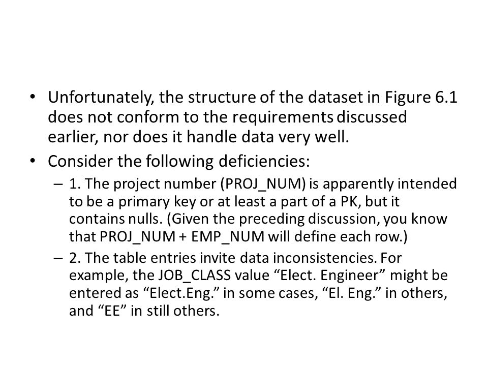 Consider the following deficiencies: