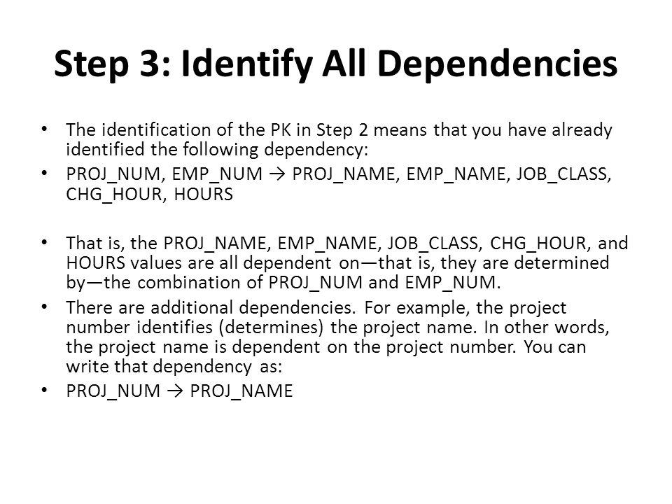 Step 3: Identify All Dependencies