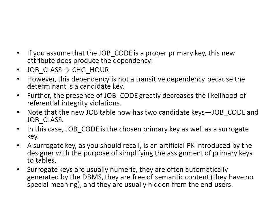 If you assume that the JOB_CODE is a proper primary key, this new attribute does produce the dependency: