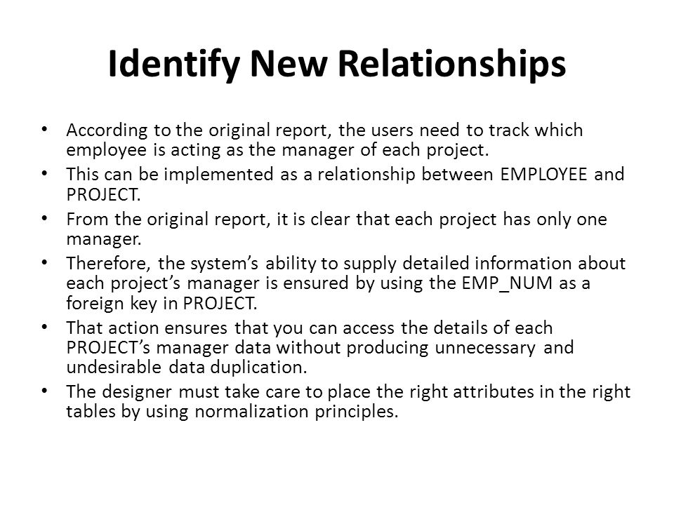 Identify New Relationships