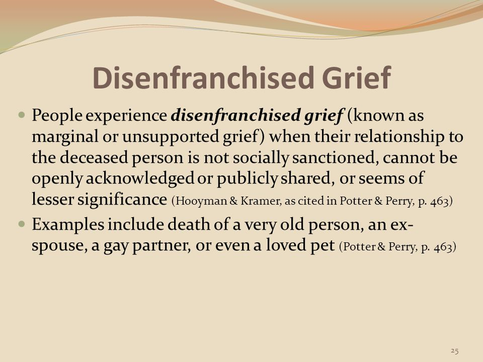 Disenfranchised Grief