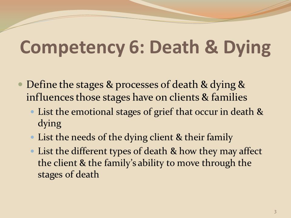 Competency 6: Death & Dying
