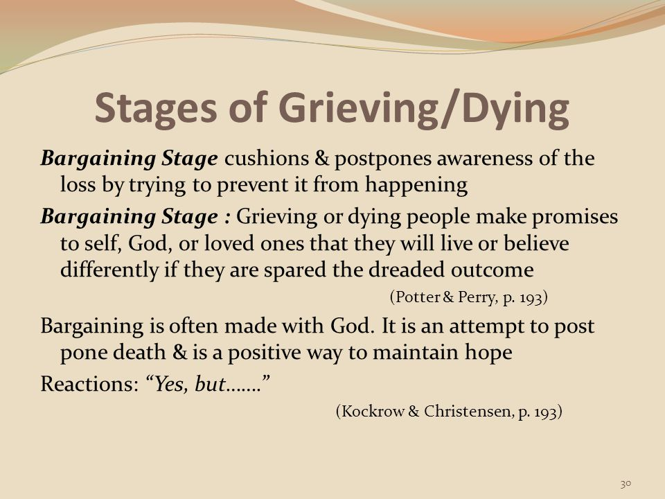Stages of Grieving/Dying
