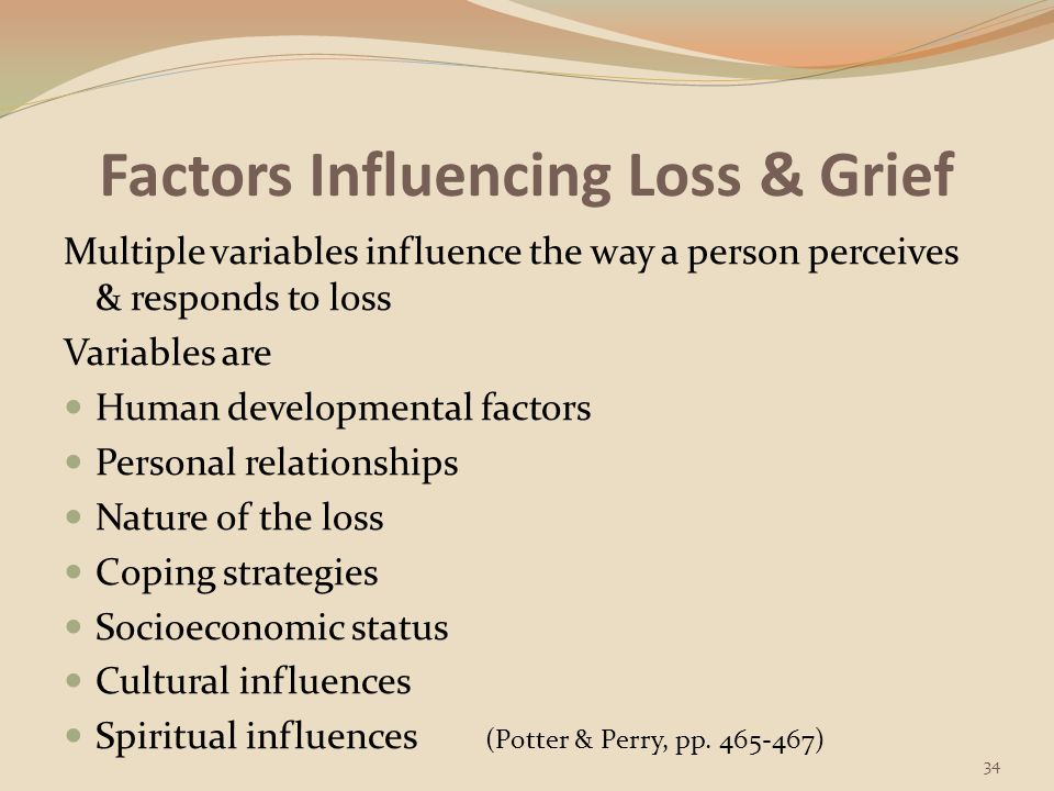 Factors Influencing Loss & Grief