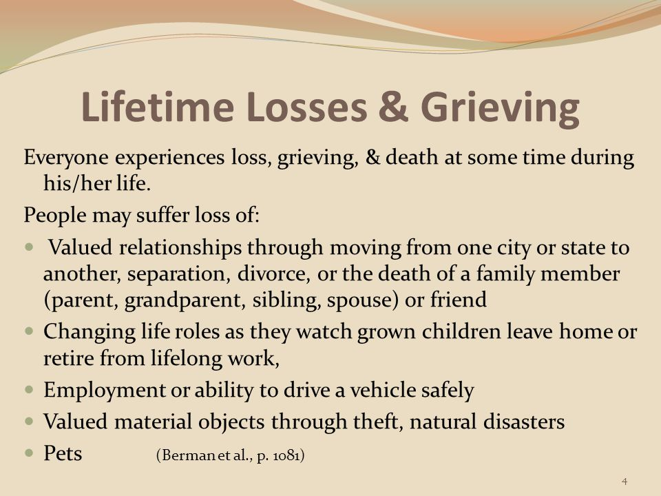 Lifetime Losses & Grieving