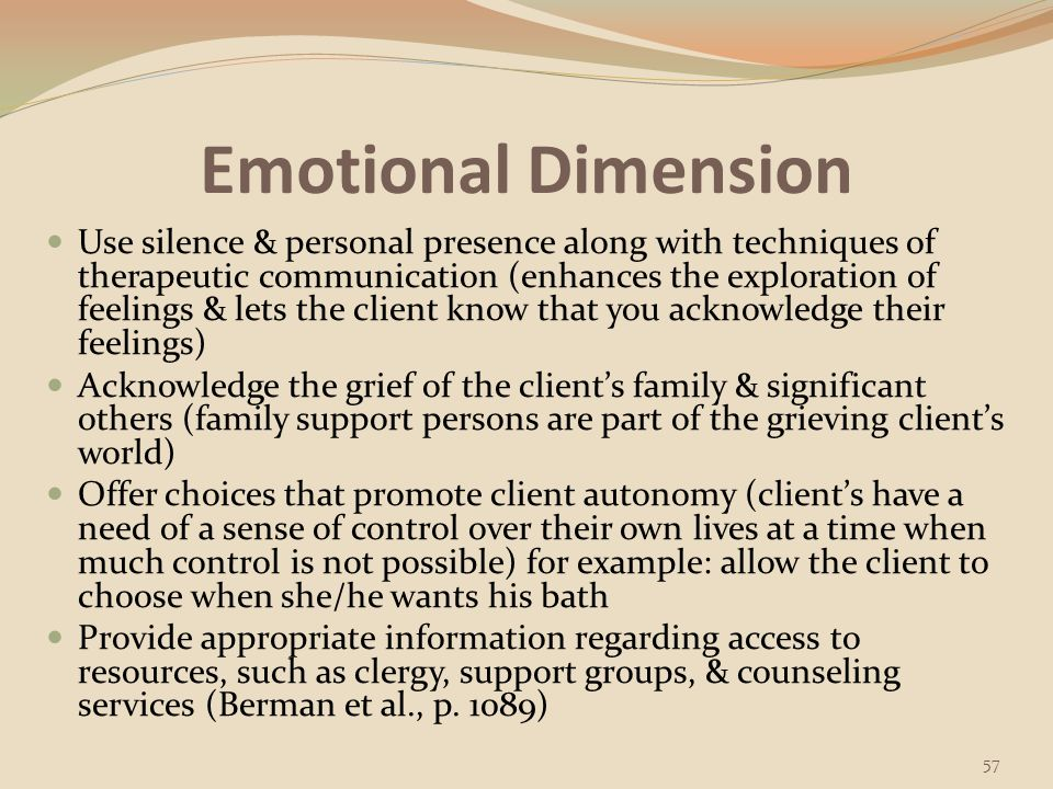 Emotional Dimension