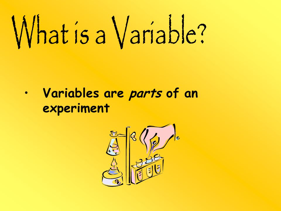 Variables are parts of an experiment