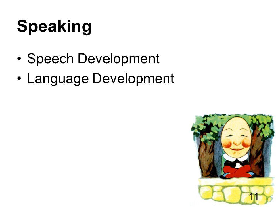 Speaking Speech Development Language Development