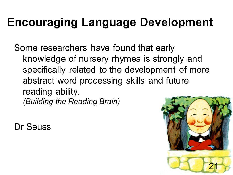 Encouraging Language Development